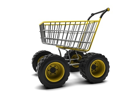 Tractor Looking Shopping Cart