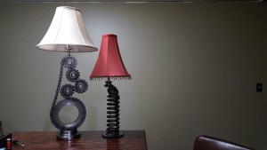 Lamps made from industrial surplus