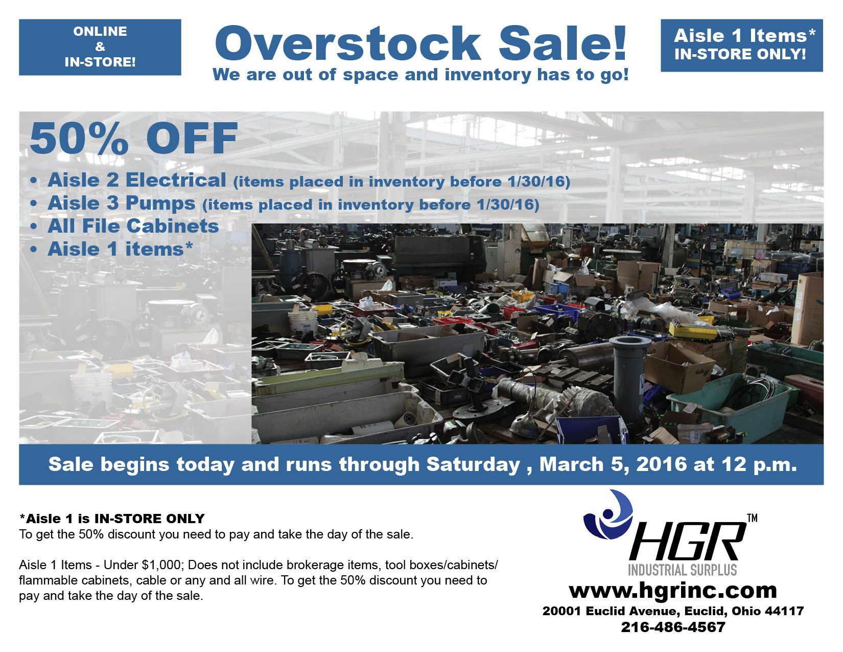 Overstock Sale Flyer