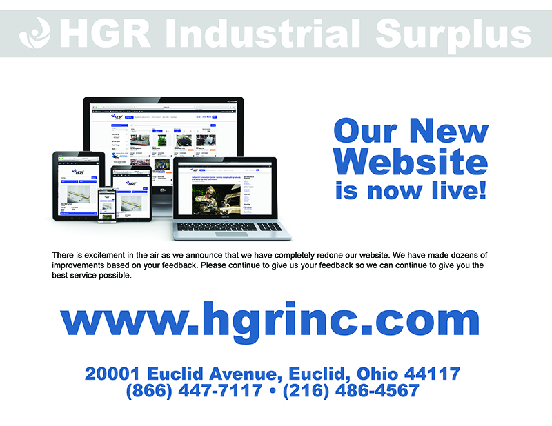 HGR Industrial Surplus New Website Launch