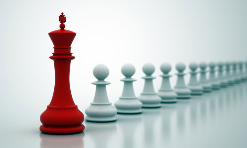 Chess pawns for thought leadership