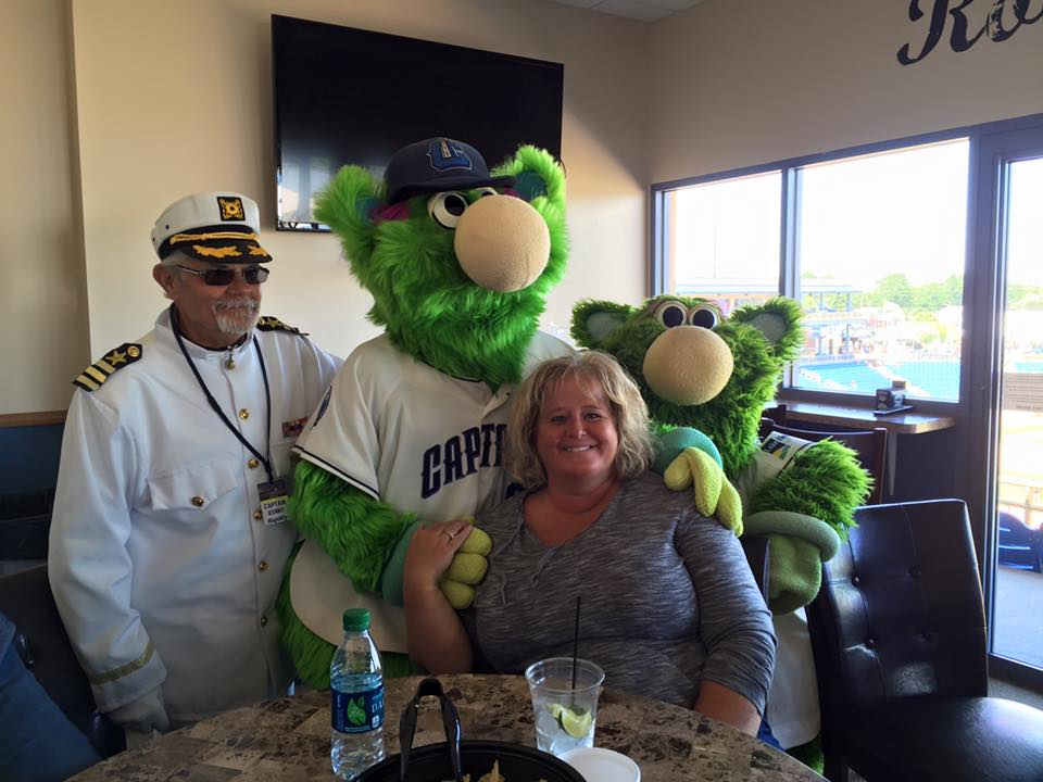 Lake County Captains mascot