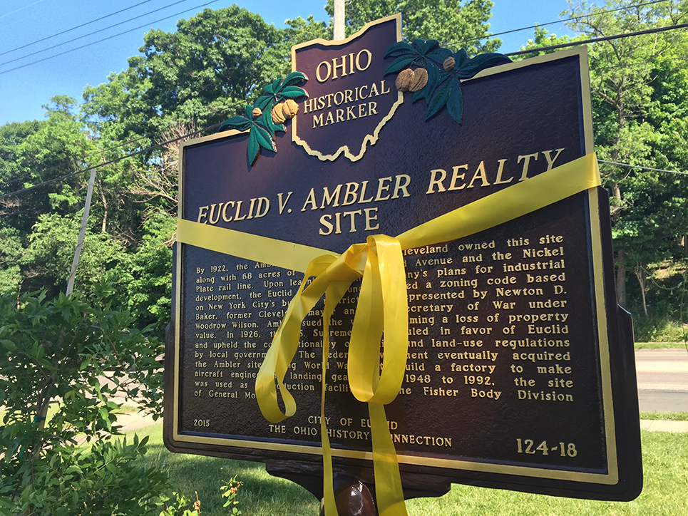 The Village of Euclid vs. Ambler Realisty historical marker