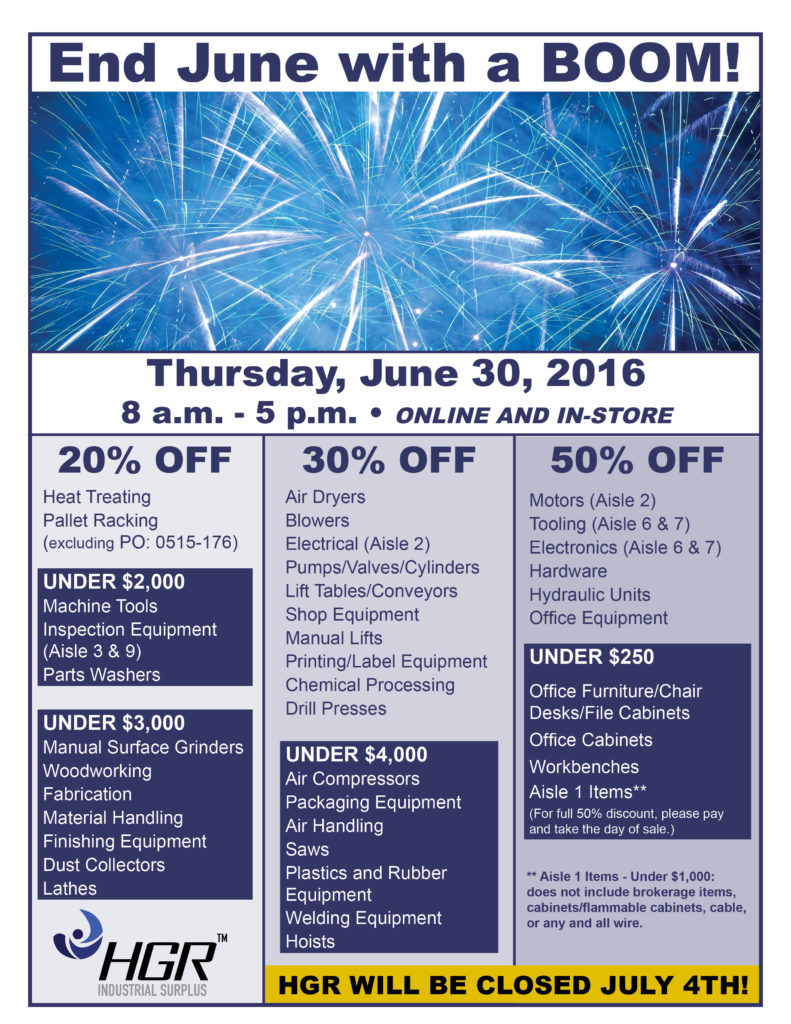 June 30: month-end sale flyer