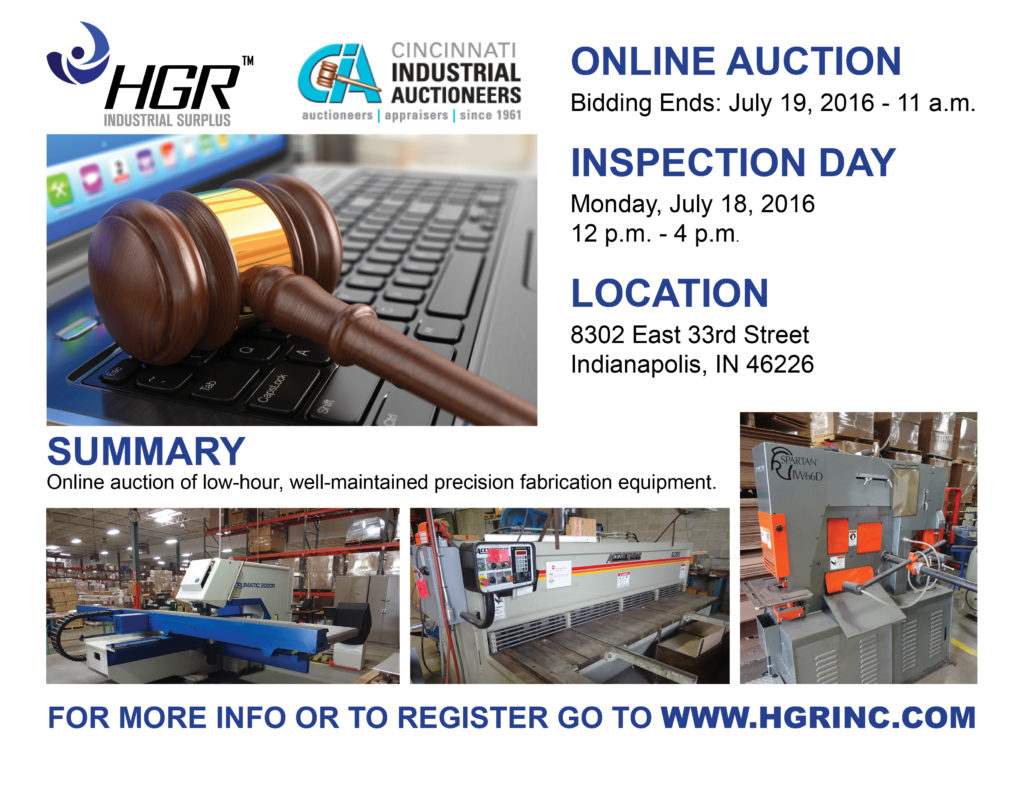 Online auction flyer