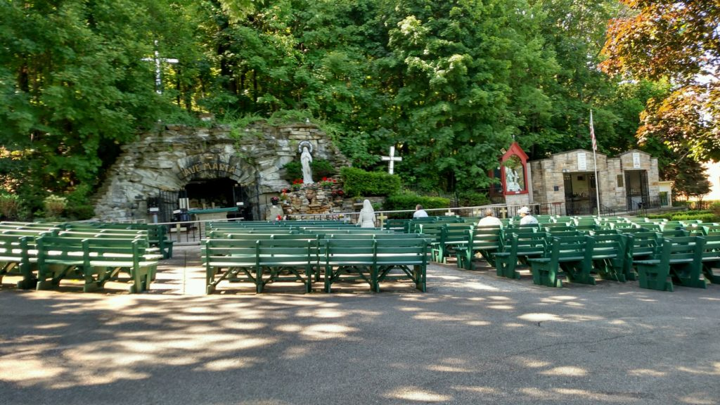 The Grotto at Our Lady of Lourdes National Shrine in Euclid, Ohio