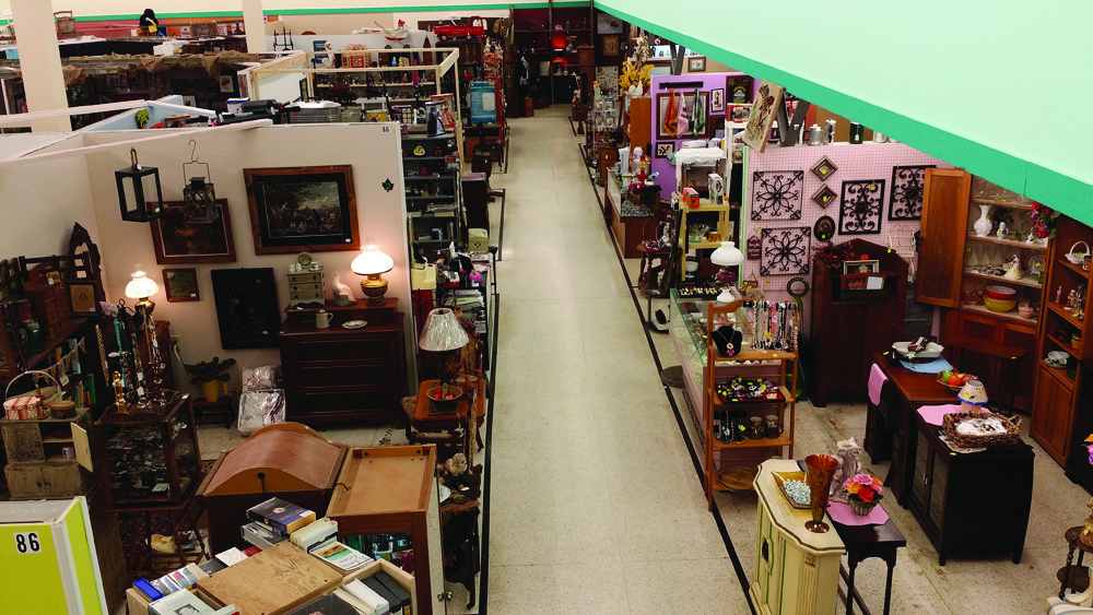 Inside of antique mall