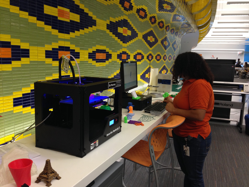 Maker space at library