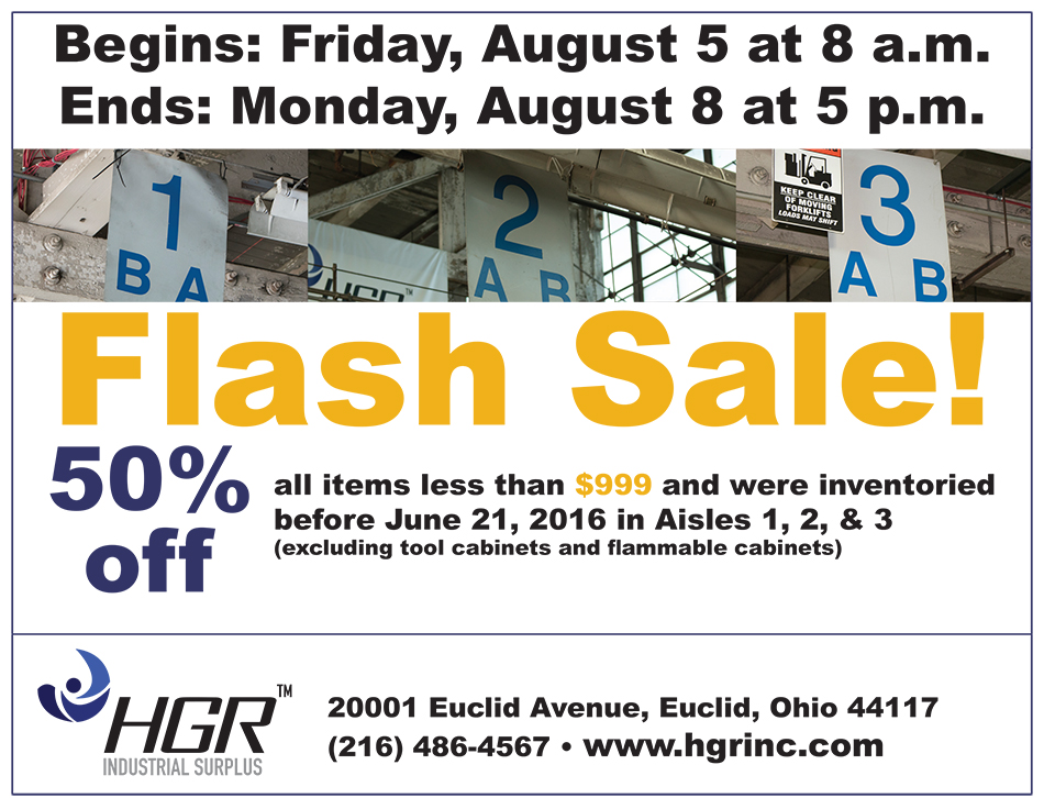 Aug. 5-8 flash sale flyer