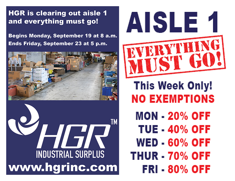 HGR Aisle 1 Progressive Sale flyer
