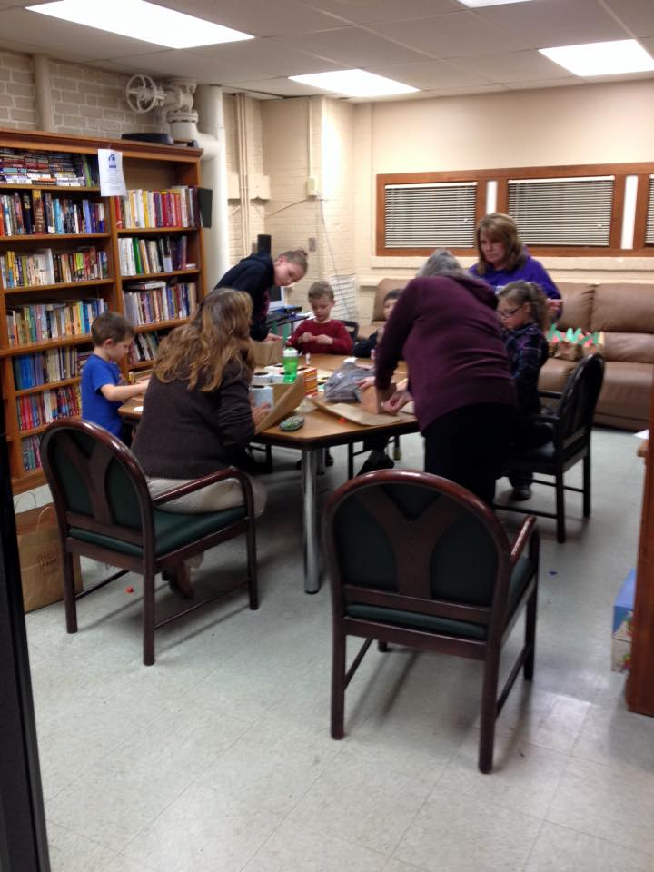 Reading room at The Lodi Family Center