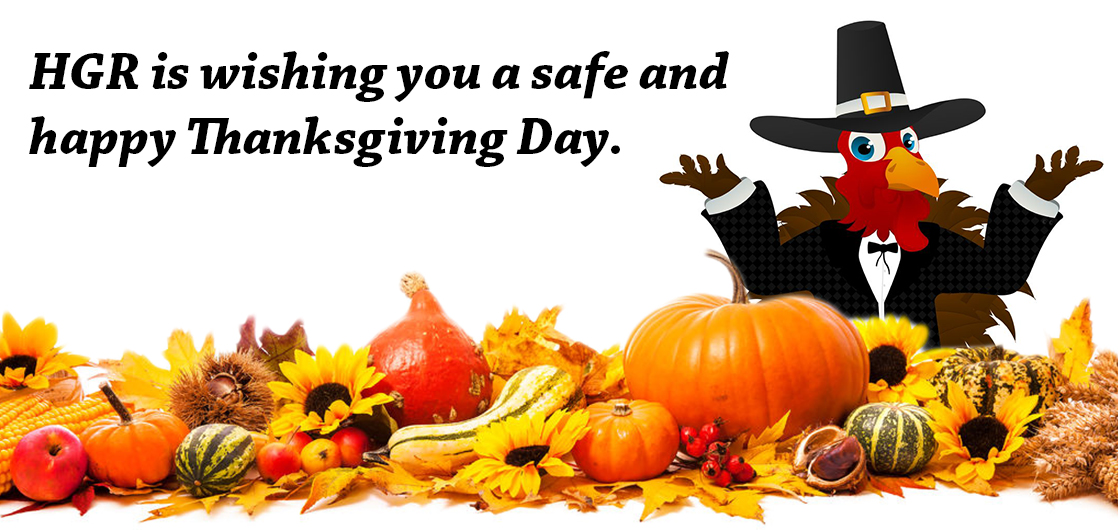 Thanksgiving wishes from HGR Industrial Surplus
