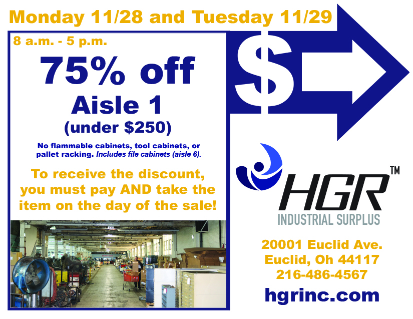 HGR Aisle 1 sale flyer