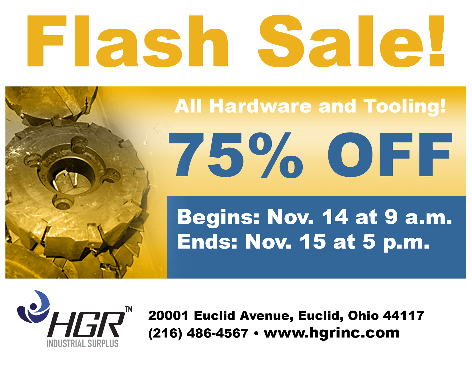 Nov. 14, 2016 HGR flash sale flyer
