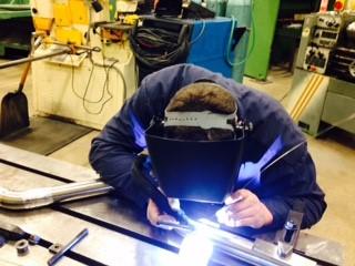 Jon Berkel welding