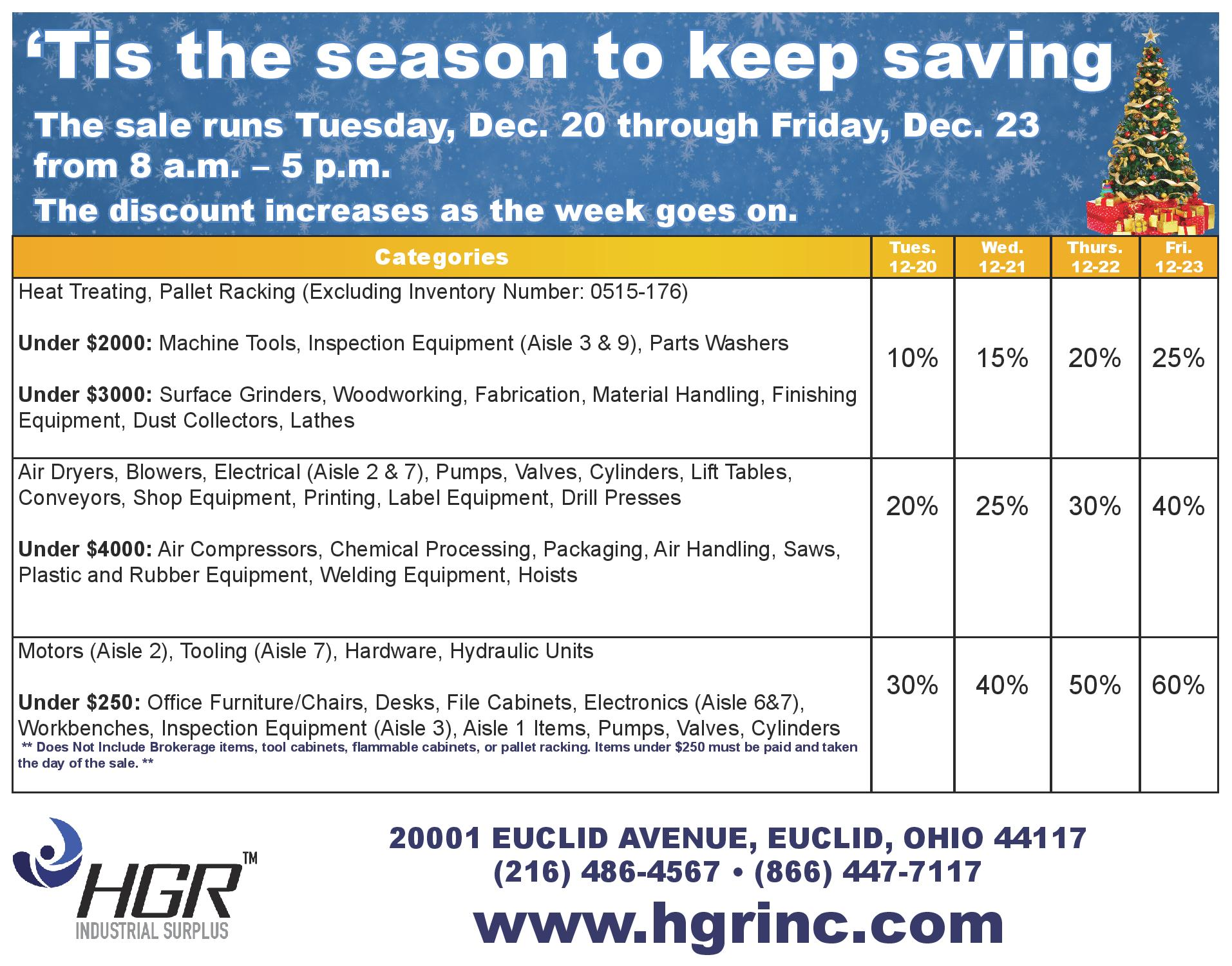 HGR Dec. 20 progressive sale flyer