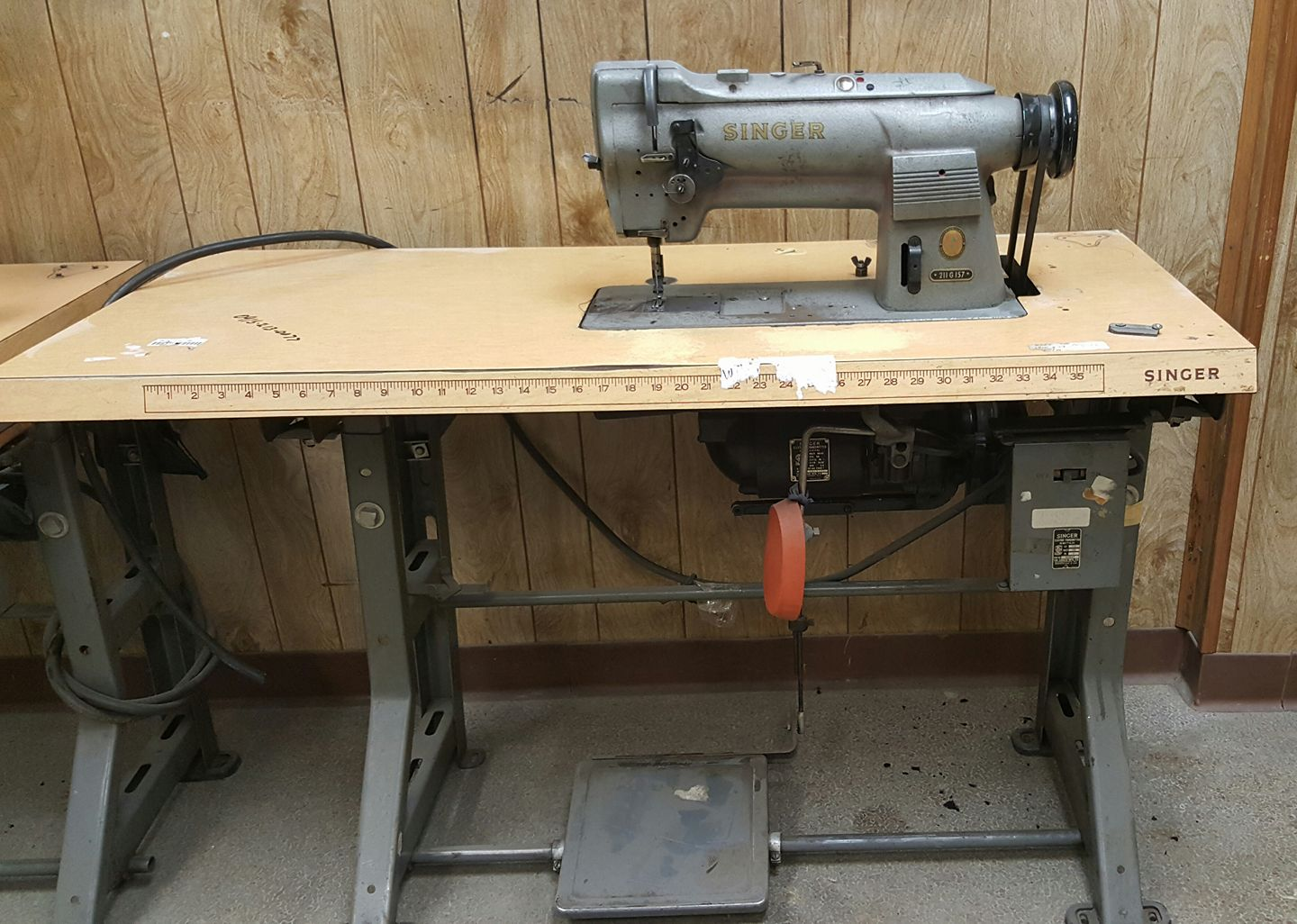 industrial Singer sewing machine purchased at HGR