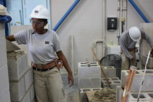 Cleveland Job Corps bricklaying students