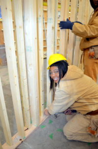 Cleveland Job Corps carpentry student