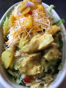 Irie Jamaican Kitchen's curry chicken bowl