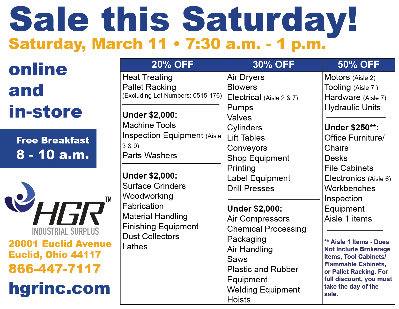 HGR March 11, 2017 customer appreciation sale flyer