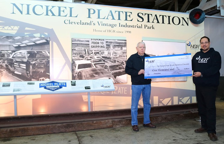 HGR donation to Nickel Plate Road Historical & Technical Society for annual convention luncheon