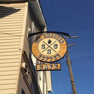 Six Shooter Cafe sign
