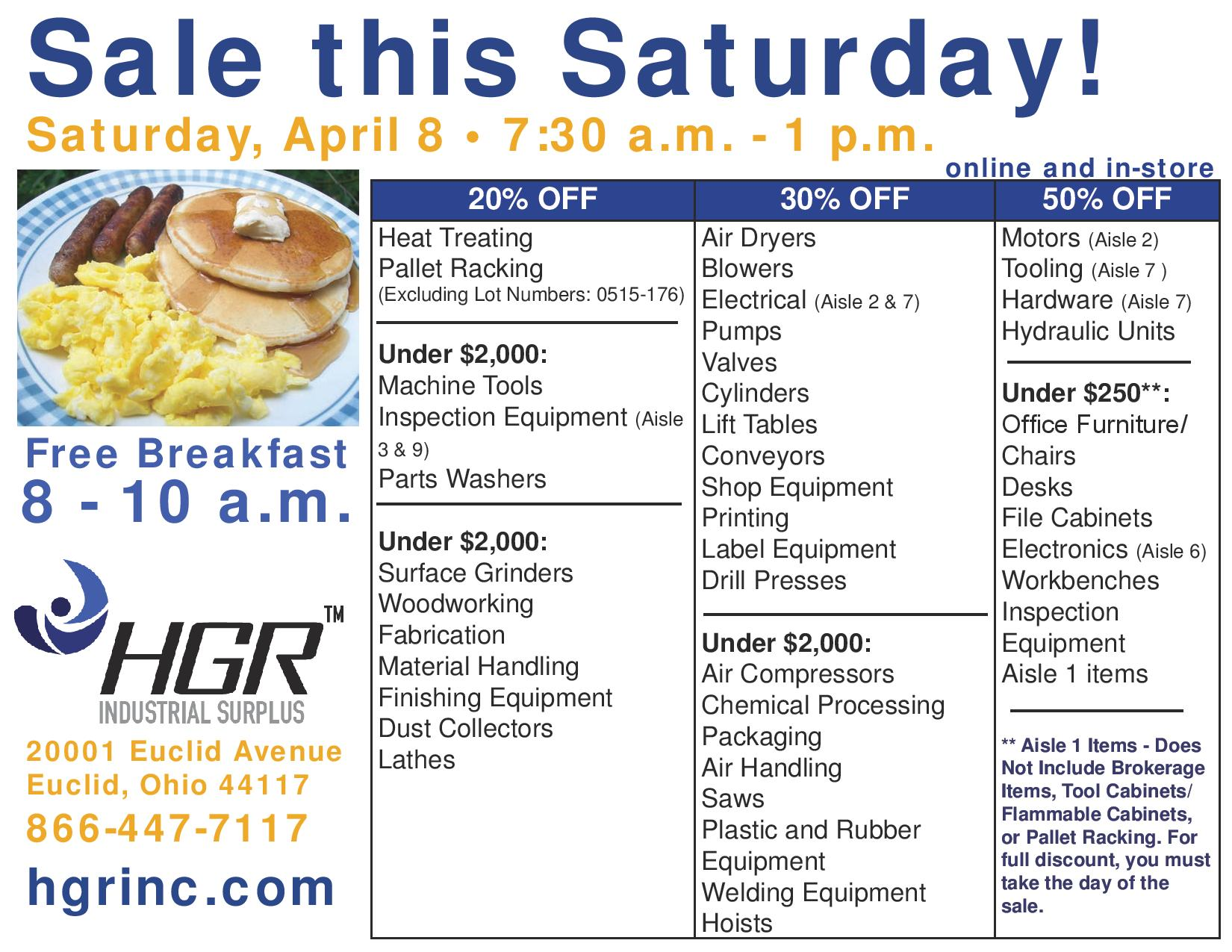 040817 HGR Saturday Sale flyer