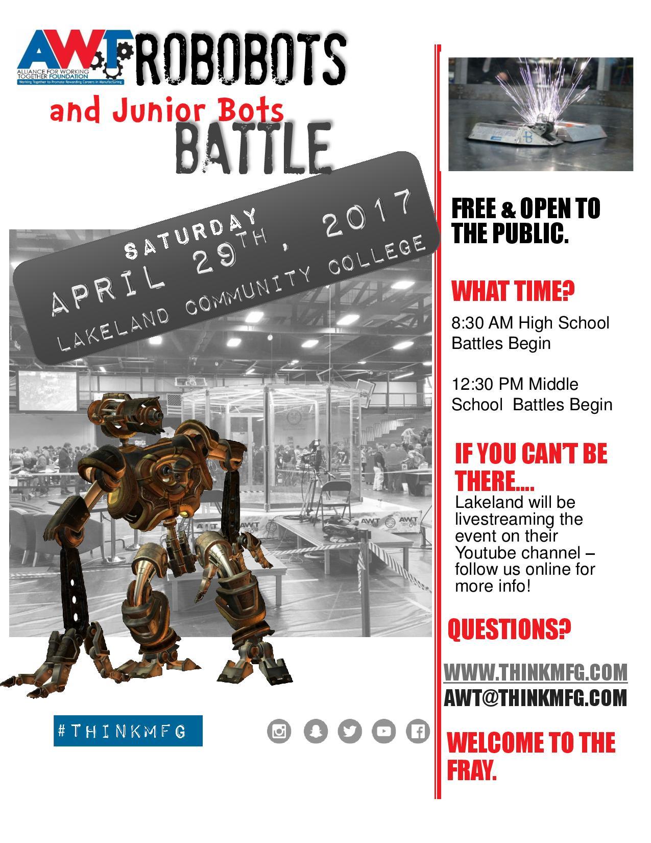 AWT RoboBots 2017 flyer