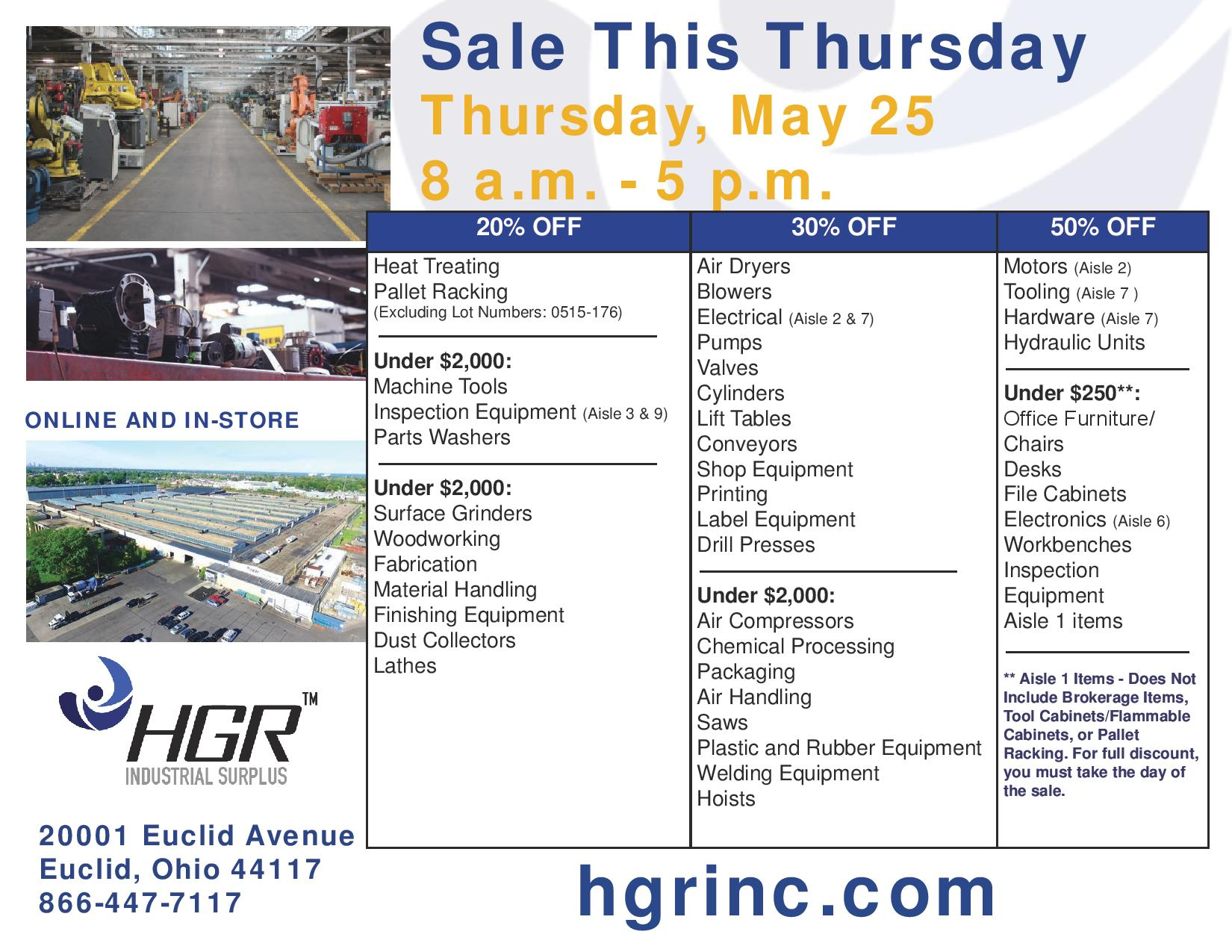 May 2017 HGR month-end sale flyer