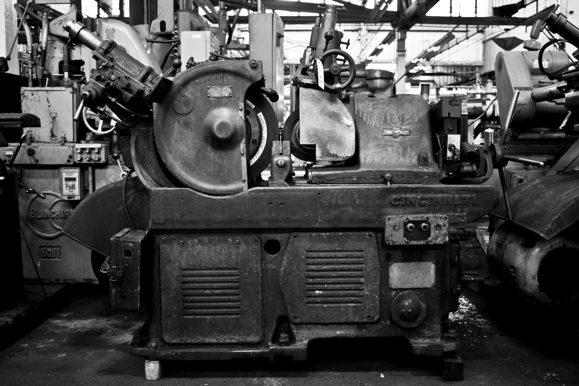 black and white photo by Stephen Bivens Photography at HGR Industrial Surplus