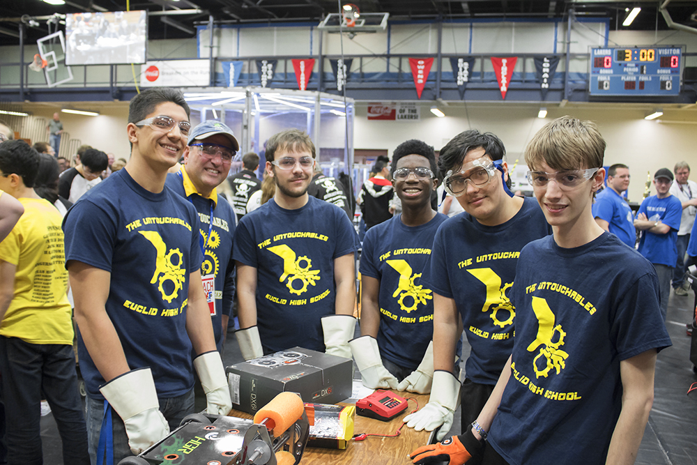 Euclid High School Robotics Team at 2017 AWT RoboBots