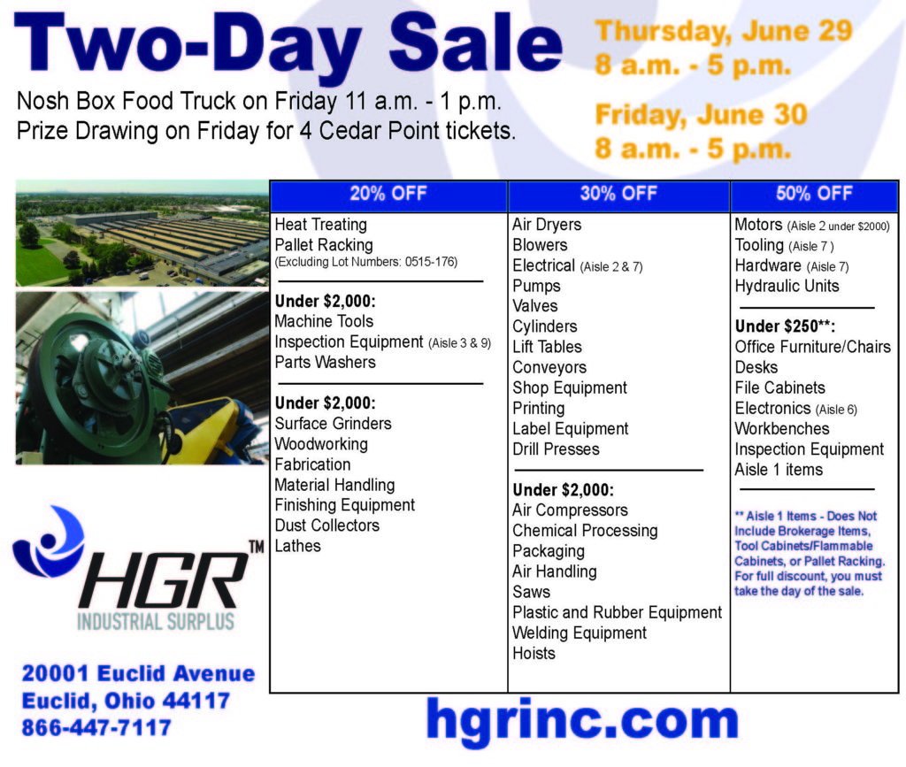 June 2017 month-end HGR sale flyer