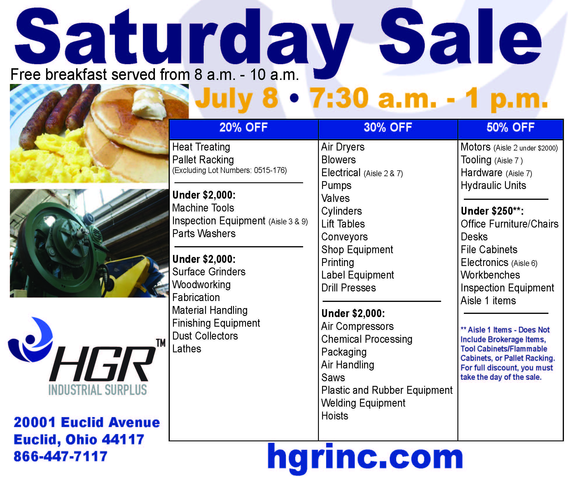 HGR July 8, 2017 Saturday sale flyer