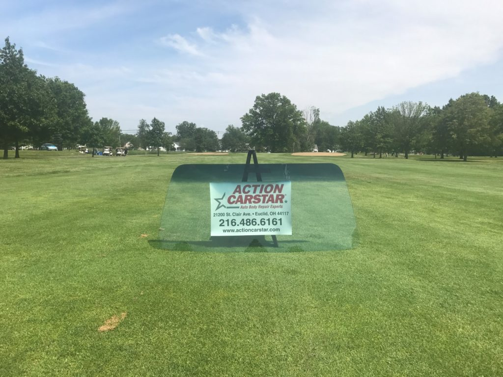 Action CARSTAR hole at Briardale Golf Course Euclid Chamber of Commerce outing