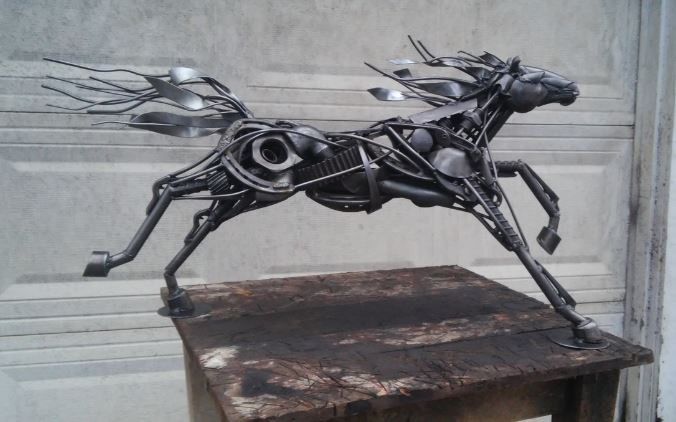 Ensminger Iron Image Design running horse