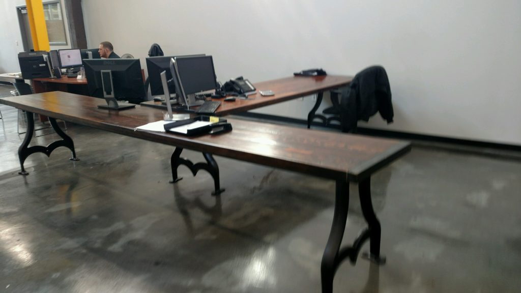 HGR's new sales desks by Jason Wein of Cleveland Art
