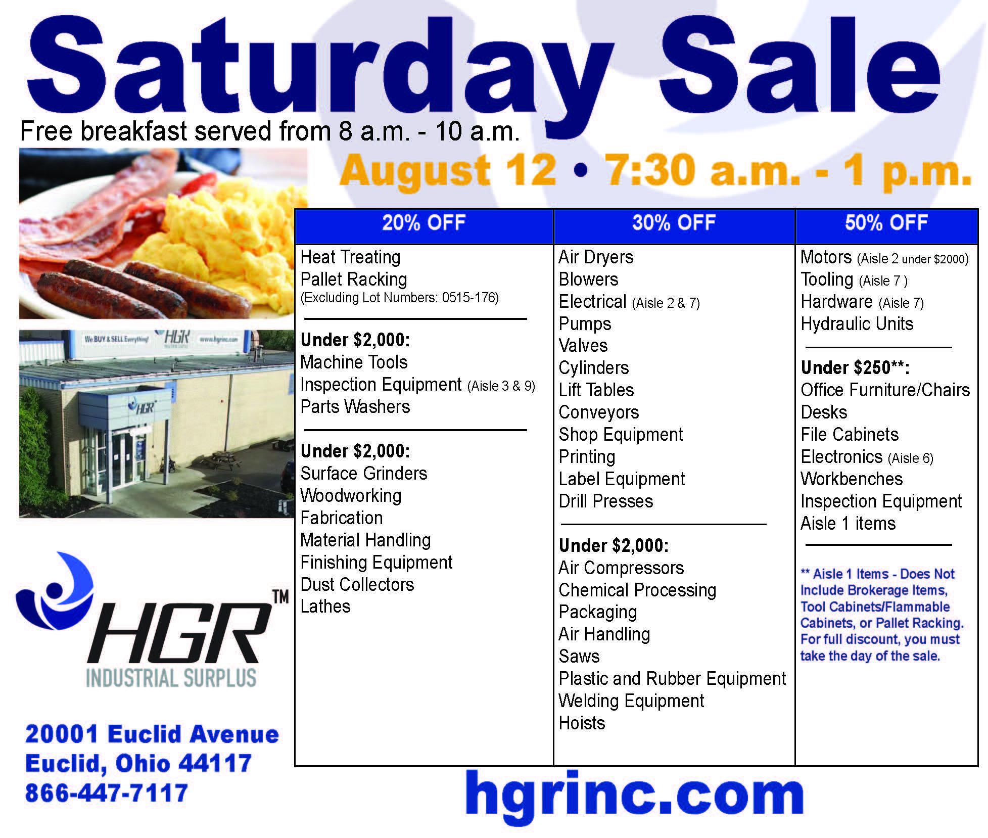 HGR August 2017 Saturday-sale flyer