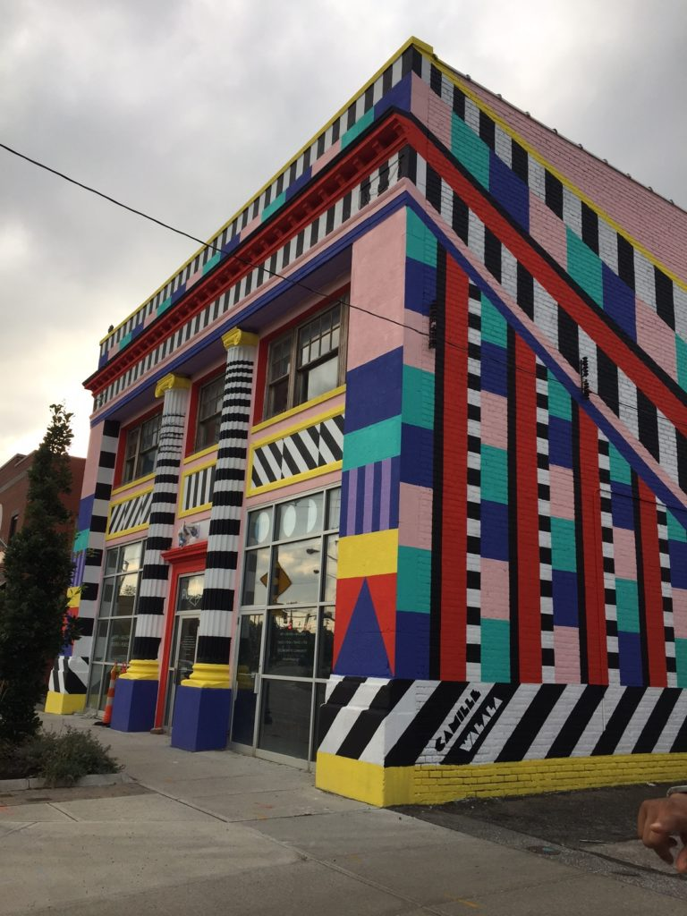 Camille Walala mural Collinwood Ohio