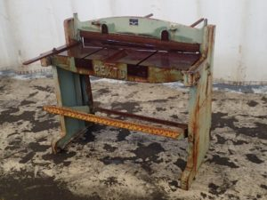 Foot Shear purchased by Three Barn Doors for use in HGR Industrial Surplus hurricane relief auction
