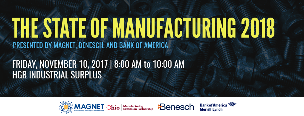 MAGNET State of Manufacturing 2017 held at HGR Industrial Surplus
