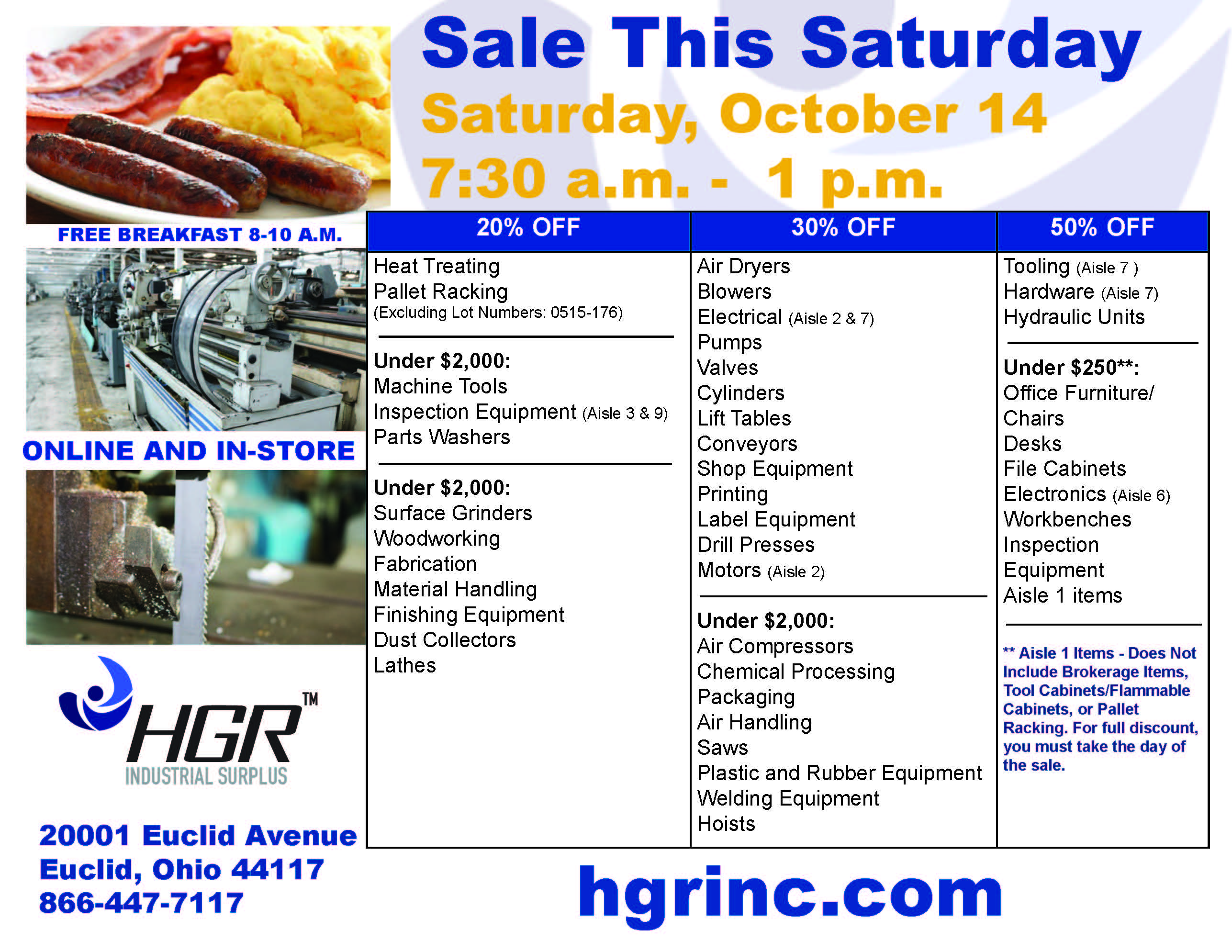 October 2017 Saturday sale flyer