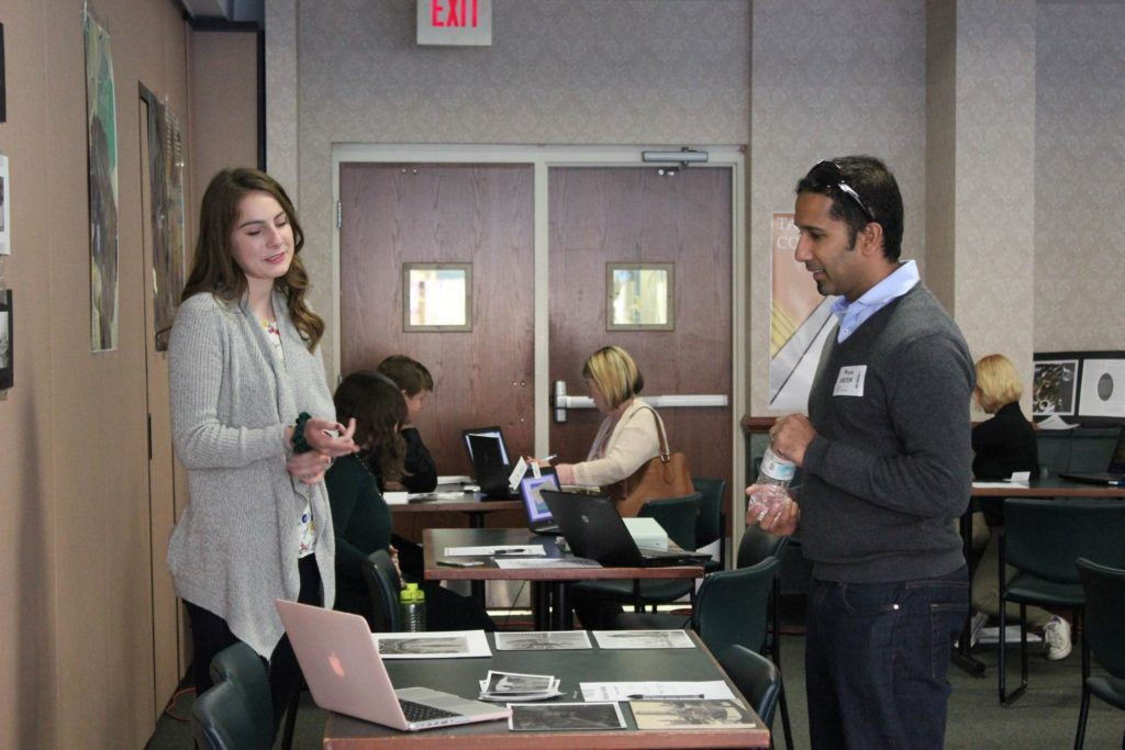 Auburn Career Center Career Fair with HGR's Tina Dick in background
