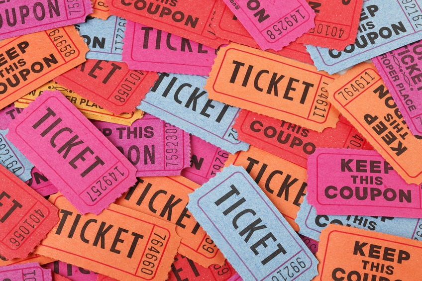 raffle tickets for HGR Industrial Surplus anniversary raffle and giveaway