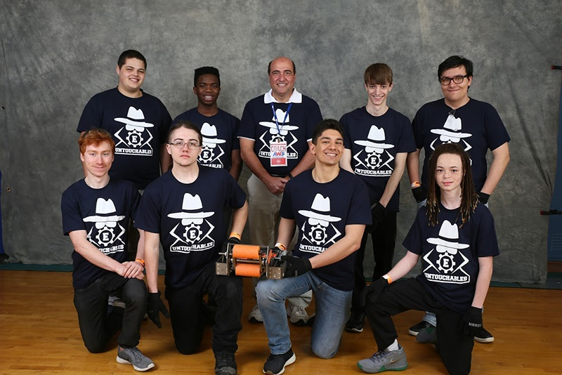 Euclid High School RoboBots robotics team 2018