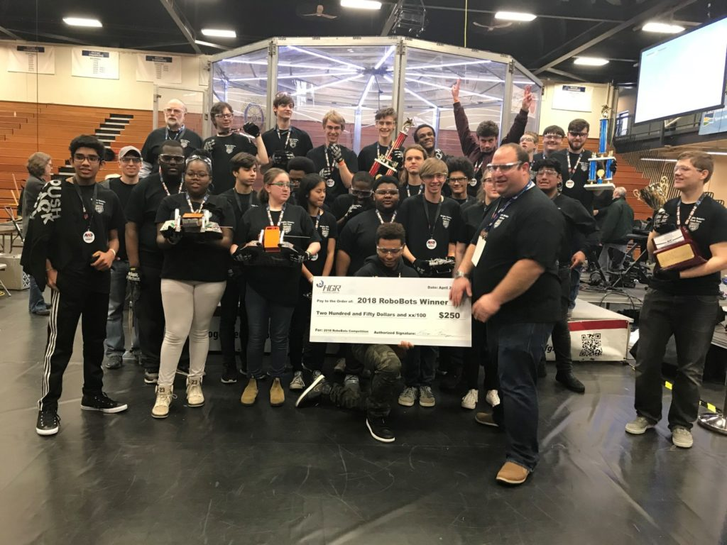 2018 AWT RoboBots winners Cleveland Heights High School