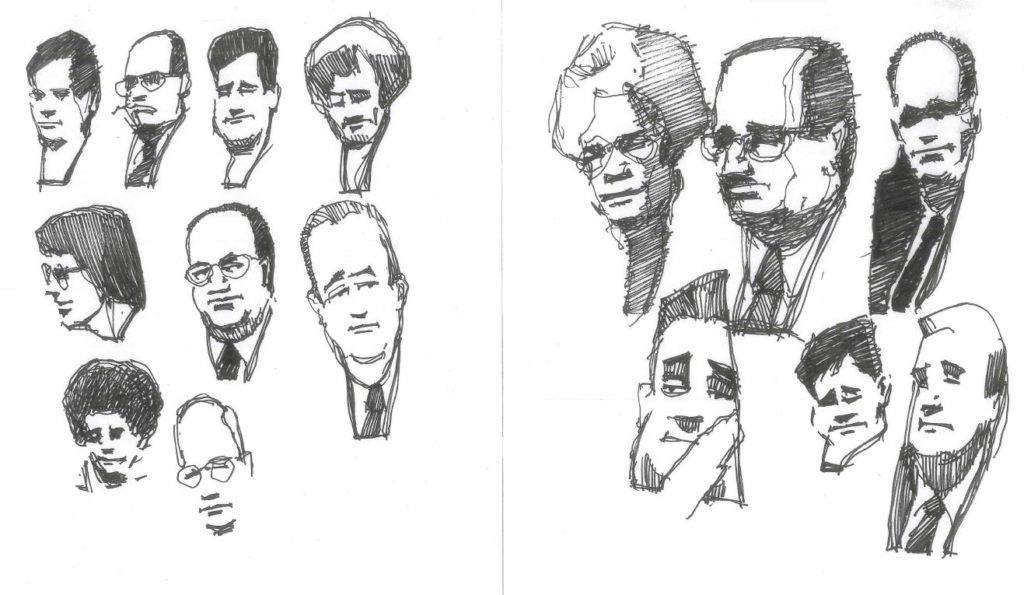 portrait sketches by Richard Fiorelli
