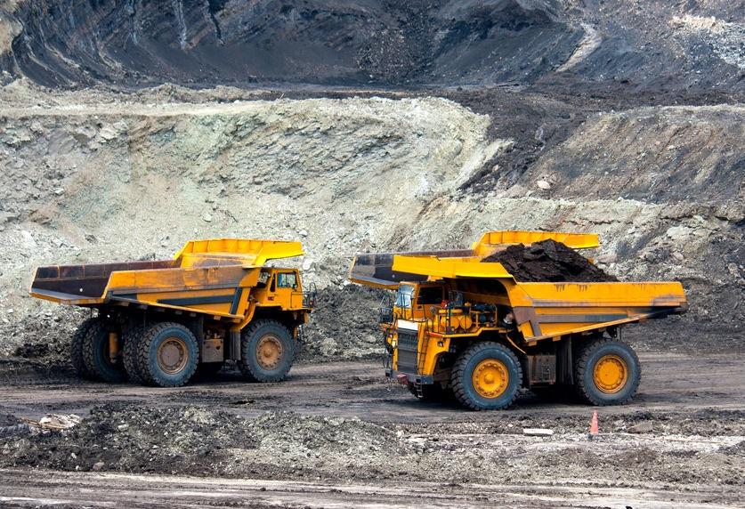 bányászati teherautó