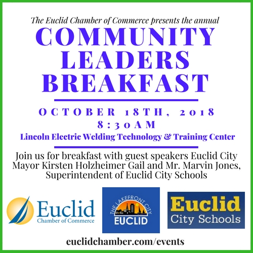 Euclid Chamber of Commerce Community Leaders Breakfast 2018 flyer