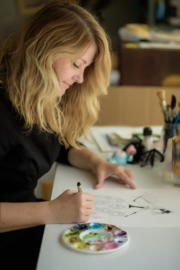Artist Angela Oster